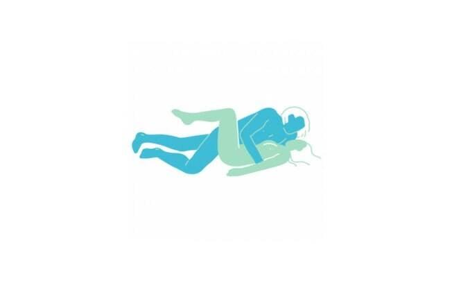 ilustração de casal fazendo sexo na posição deitados