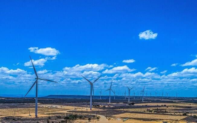 Parque de geração de energia eólica de Marcolândia, no Piauí: setor não emite CO2 e está em expansão no Brasil