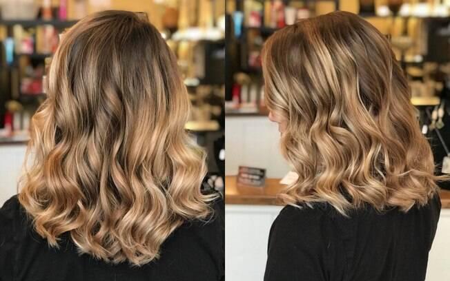 O objetivo da técnica de balayage é deixar o cabelo iluminado de forma suave e natural, dando movimento aos fios
