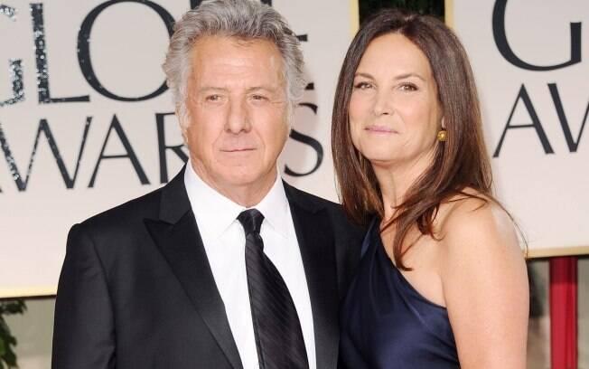 Dustin Hoffman e Lisa Gottsegen no Globo de Ouro 2012: juntos há 31 anos