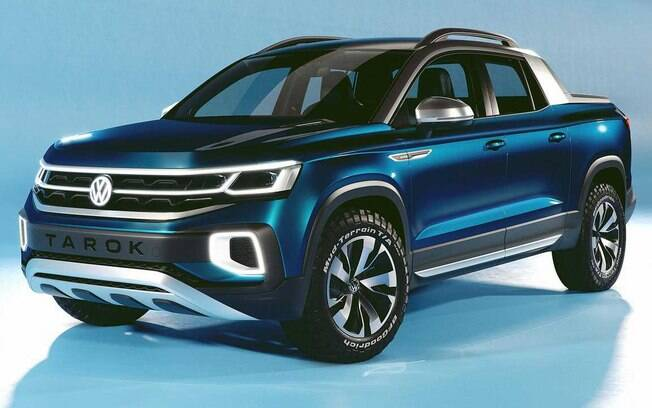 Rival da nova picape da GM, a VW Tarok será muito parecida com o conceito mostrado em novembro