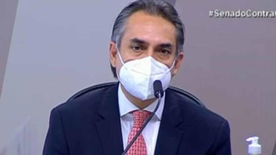 O gerente-geral da farmacêutica Pfizer na América Latina, Carlos Murillo depõe à CPI da Covid