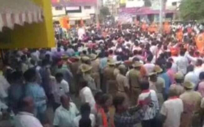 Mil policias foram acionados por causa de protesto contra a construção de Cristo Redentor na Índia