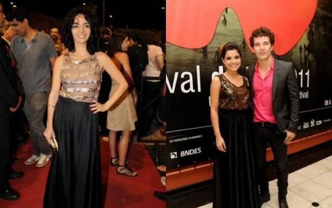 Cláudia Ohana e Vanessa Giácomo com Daniel Oliveira