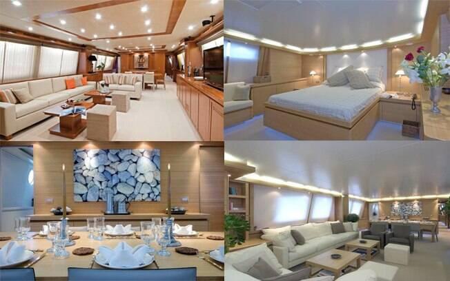 o interior do iate de R$ 45 milhões de Roberto Carlos