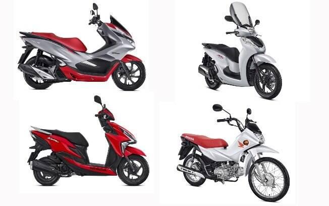 PCX 150 Sport, SH 300i Sport, Elite e Pop 110i são os scooteres e cubs na linha de motos Honda 2019