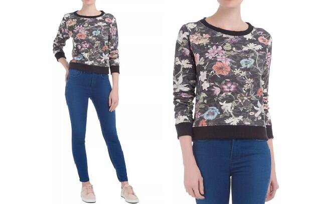 Blusa Moletom Floral REPLAY