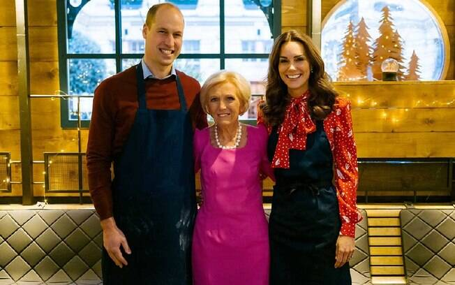 Príncipe William%2C Mary Berry e Kate Middleton