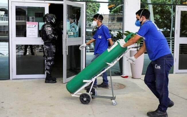 Coronavírus: governo do Amazonas requisita oxigênio de 11 indústrias para suprir hospitais em colapso