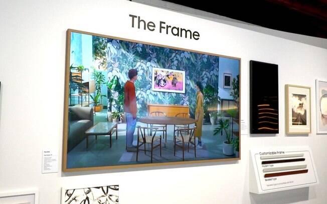 TV da Samsung imita um quadro