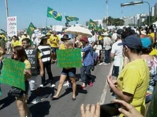 Manifestantes também expressaram apoio ao juiz Sergio Moro, que atua na Lava Jato