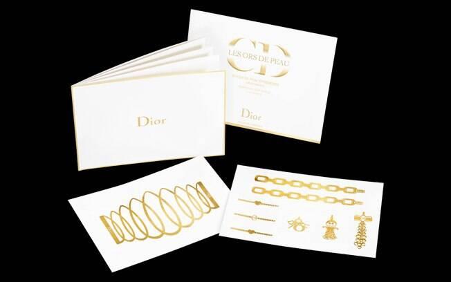 Alguns dos desenhos das tatuagens de ouro 24 quilates da Dior