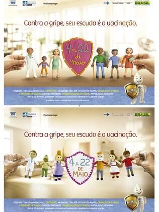 Cartaz da campanha do Ministério da Saúde
