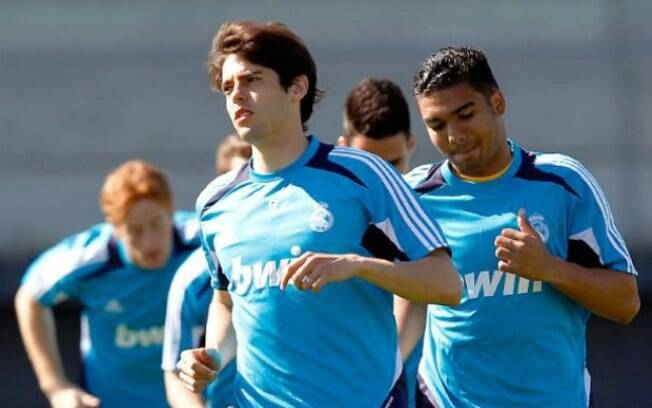 Casemiro treina ao lado de Kaká no Real  Madrid
