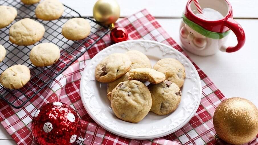 Cookies de grão-de-bico
