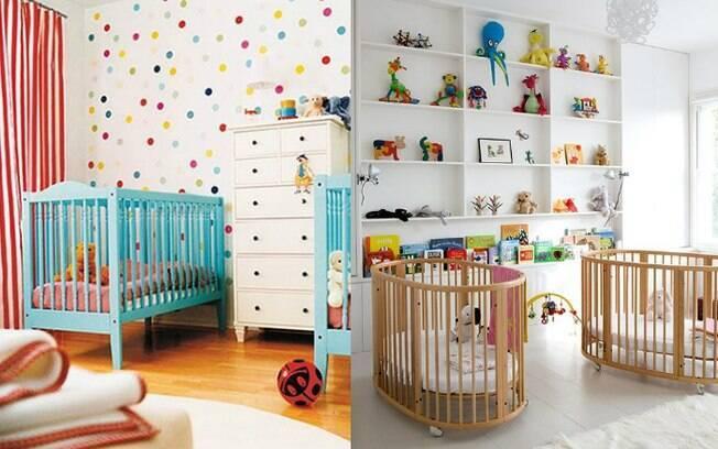 Na hora de montar o quarto de gêmeos, é importante levar em consideração o tamanho do cômodo, já que serão dois berços