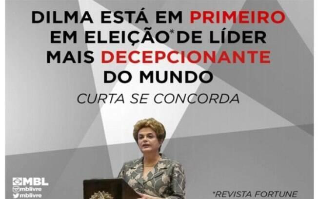 Enquete de revista foi divulgada por grupos anti-governo, como o Movimento Brasil Livre