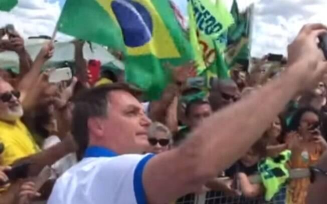 Presidente participou de manifestação no dia 15 de março