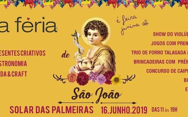 Festa junina La Féria de São João acontece nesse domingo (16)