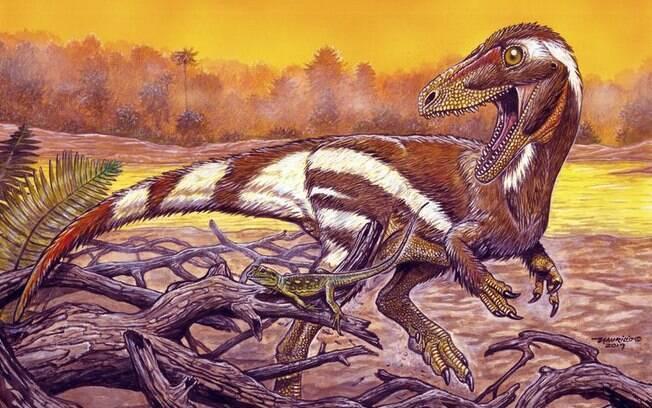 Imagem de como seria o Dinossauro vivo