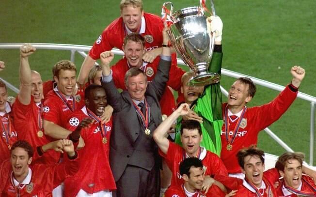 Sir. Alex Ferguson treinou a equipe campeã da Champions em 1999