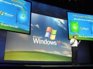 Windows XP foi lançado em outubro de 2001
