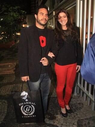 Carol Castro e o marido, Marco Bravo