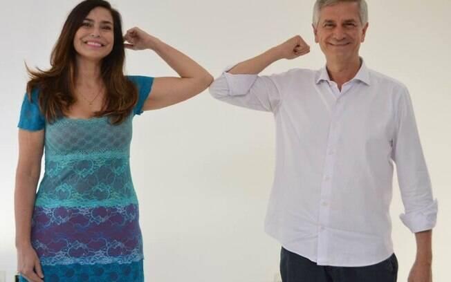 Valéria Monteiro e André von Zuben fecharam chapa para as eleições.