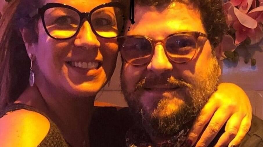 Atriz Carla Daniel e o namorado, Sérgio Stamile