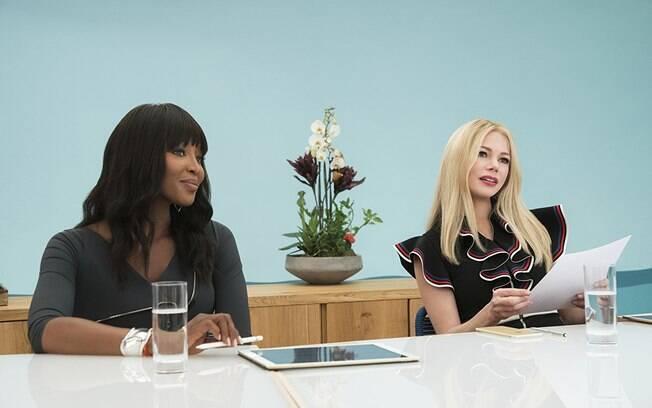 A modelo Naomi Campbell e a atriz Michele Williams marcam presença no longa-metragem