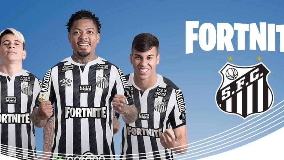 Santos exibirá patrocínio do Fortnite em seu uniforme na final da Libertadores