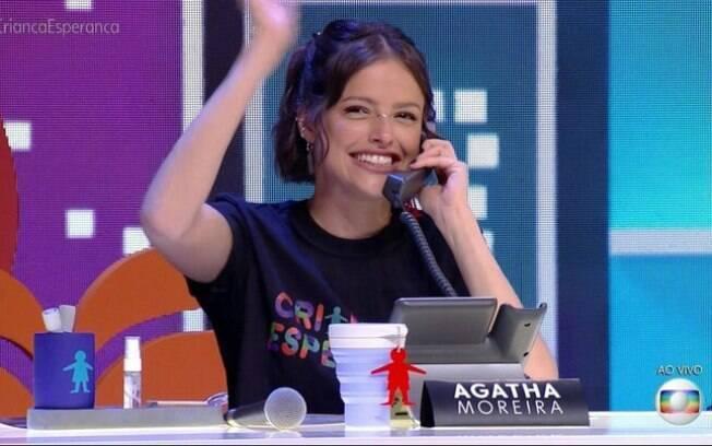 Agatha Moreira participou do