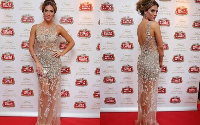 Também durante o Festival de Cinema francês, Giovanna Ewbank surgiu elegante