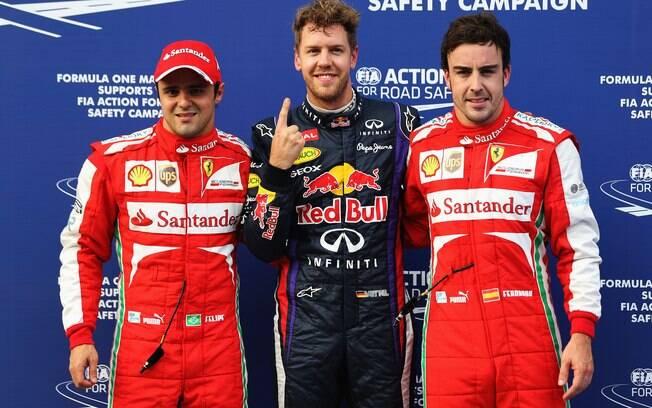Massa, Vettel e Alonso, os três melhores no  treino classificatório do GP da Malásia