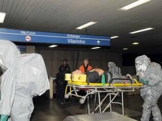Metrô de Belo Horizonte recebe simulado de ataque químico para a Copa de 2014