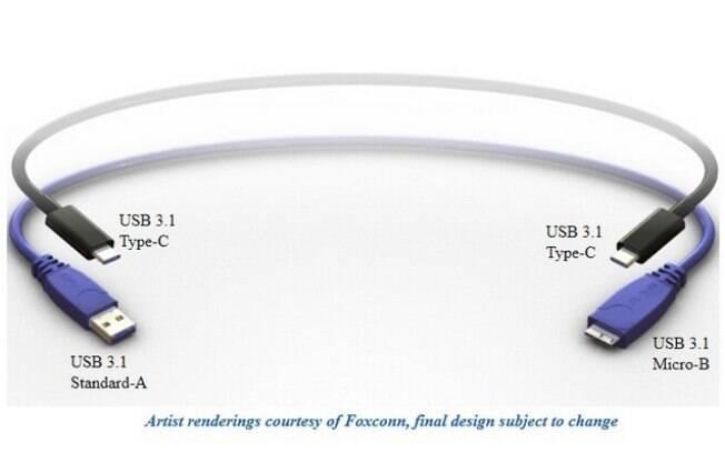 USB-IF divulgou imagem do novo padrão de conector USB, o Type-C