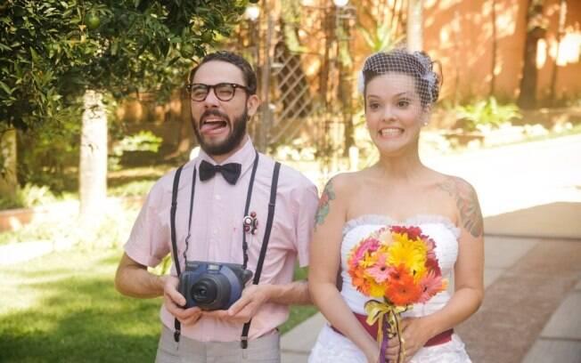 Bruna e Alexandre no casamento: vocação digital