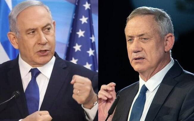 Netanyahu e Gantz vêm disputando pelo poder em Israel há mais de um ano
