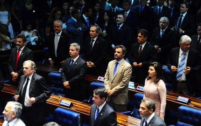 O senador e presidente do PSDB, Aécio Neves: