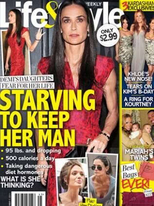 """Demi Moore na capa da revista """"Life & Style"""""""