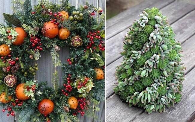 Apesar de a decoração de Natal tradicional prevalecer, muita gente anda buscando alternativas mais
