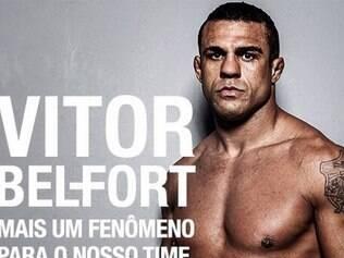 Vitor Belfort foi anunciado no perfil pessoal de Ronaldo Fenômeno
