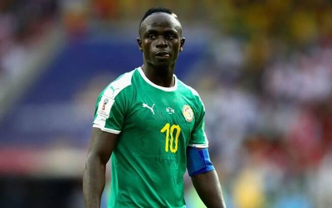 Sadio Mané, estrela de Senegal