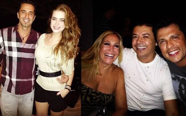 Rayanne e Latino na festa de Ceará, que contou com a presença de Susana vieira e David Brazil