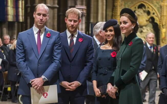 Meghan Markle, Príncipe Harry, Kate Middleton e príncipe William