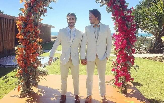 Rodrigo Pandolfo já havia compartilhado imagem do casamento em