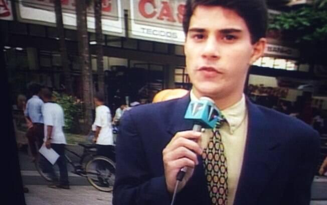 Evaristo Costa como repórter