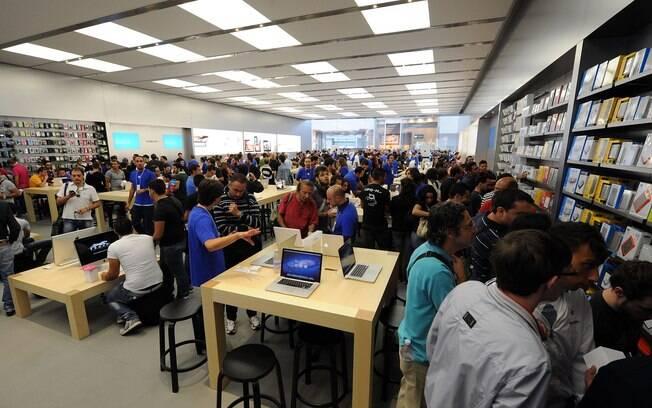 Loja da Apple localizada na cidade de Catania, na Itália