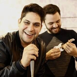 Jorge e Mateus gravam o programa 'Sai do chão!'