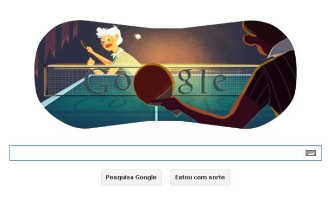 Novo doodle do Google mostra homenagem aos atletas do tênis de mesa